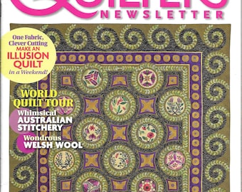 Out of Print Quilters Newsletter June/July 2010 Make an Illusion Quilt in a Weekend