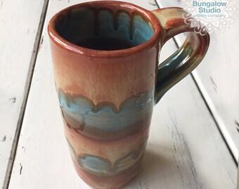 Tall Ceramic Mug, Pottery Mug in Handmade, Large Ceramic Mug