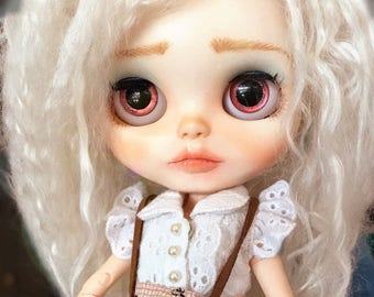 Lilah-OOAK Custom Blythe Doll, Alpaca Reroot