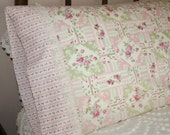 Vintage Style Pillowcase Set | Patchwork-Design Pillow Cases | Queen Pillowcases - Set of 2 | Gift Quality Pillowcase Set