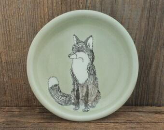 SKT Atmospheric Fox Everything Dish. Little Jewelry Holder, Spoon Rest, Tapas Plate, Trinket Dish