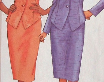 Jacket and Skirt Sewing Pattern UNCUT Butterick 3093 Sizes 8-12