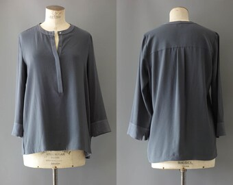 Anthracite viscose blouse | 1990's by cubevintage | medium