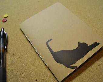 BUY 2 GET 1 FREE Cat Stretching Decal Pocket Journal
