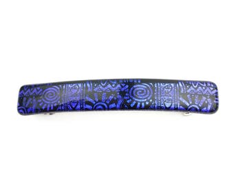 Purple French Barrette, Extra Large Hair Clip for Thick Hair