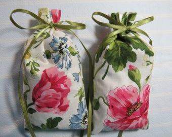 "Floral 5""X2.5"" Sachets-'Petals of Spring' Fragrance-Poppies Sachet-Cotton Botanical Hand Blended Sachet-Cindy's Loft-496"