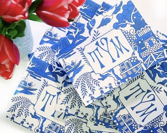 Blue and white chinoiserie notecards