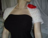 RESERVED 4Danielle / Eyelet Open Lace Bridal Shrug Handknit Small