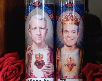 Saints Andy and Anderson Prayer Candle Set / AC Squared / Anderson Cooper / Andy Cohen