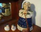 1980 RJ Drinkwater Witch Baba Yaga cookie jar and salt and pepper shakers 64BR2-4