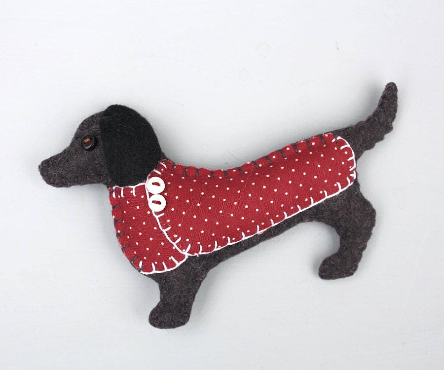 Dachshund Christmas ornament Felt dog ornament Dachshund