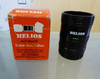 Vintage Helios Zenith extension tubes, photography