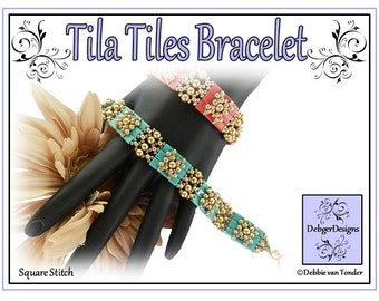 Beading Pattern,  Tutorial, Bracelet - TILA TILES