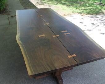 George Nakashima style conoid table