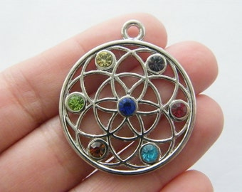 1 Seed of life charm silver tone M42