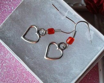 Heart Earrings,Love