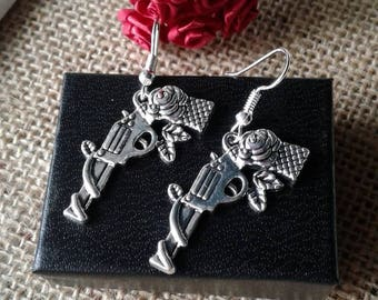 Gun and Roses Earrings