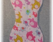 Elephant Baby Burp Cloth Contoured Quilted Flannel for baby girl