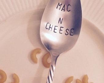 Mac N Cheese stamped serving spoon