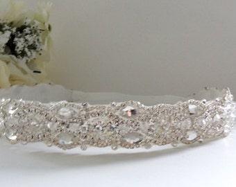 Crystal Victorian wedding headband, Art Deco Rhinestone Bridal Headband, Vintage Inspired Hair Accessory (Haute Couture)