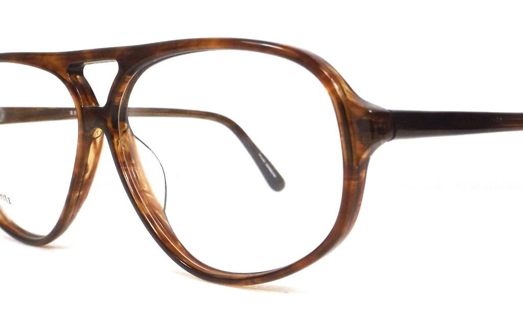 vintage 80s deadstock mens double bridge eyeglasses oversized ...