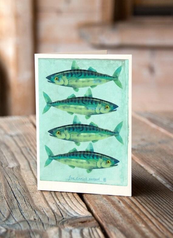 Cornish Mackerel Greetings Card