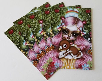 Pack of 5 Postcards-In the Forest of Friendship