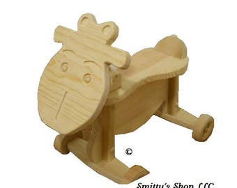 Toddler ride on toy Cow solid wood