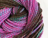 Handspun Bluefaced Leicester Yarn, Hand Dyed, Turkish Delight, 2 ply Handspun Yarn UK
