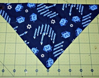 Dog Bandana, Hanukkah, Neckerchief, Star of David, Dreidel