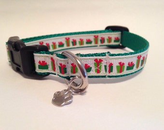 Extra Small Christmas presents Holiday dog collar