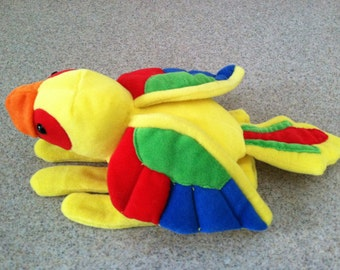 Vintage Plush Parrot Hand Puppet by Plush Creations
