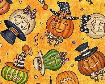 Creepy Hollow Jack-o-Lantern from Quilting Treasures - You choose the cut