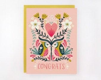 Lovebirds - Wedding/Engagement Card