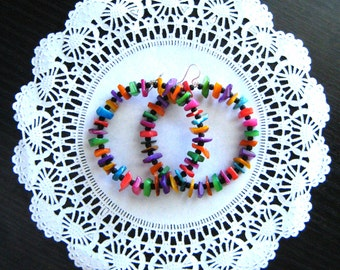 Hoop earrings colorful round earrings statement earrings boho earrings bohemian earrings gift for her colorful hoops frida kahlo inspiration