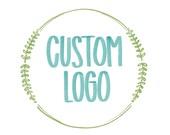 Reserved for ANGELA- CUSTOM Hand lettered Logo- Calligraphy Logo- Small Business Logo- Logo Design