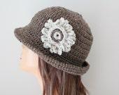 Crocheted Hat Barley Cloche Hat