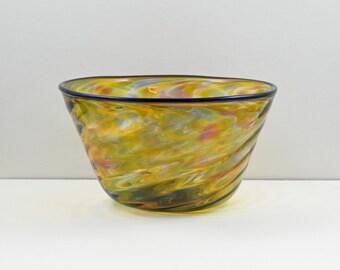 Blown Glass Bowl - Multicolor Yellow