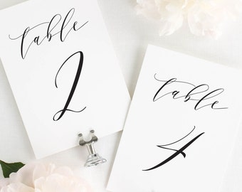 """Charlotte Table Numbers - 4x6"""""""