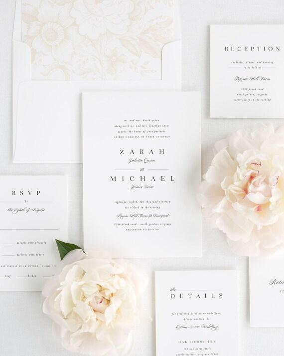 Zarah Wedding Invitations - Sample
