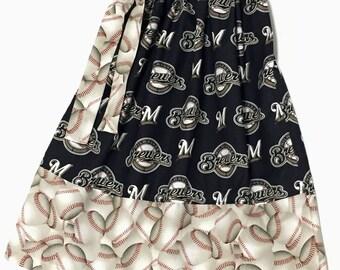 Custom Boutique handmade Milwaukee Brewers Baseball Pillowcase Dress