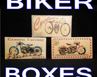 Harley parts motorcyle boxes decor