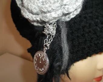 Crochet Steam punk victorian style chunky hat