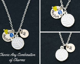 Volleyball Gift Volleyball Necklace • Girls Volleyball Team Jewelry Volleyball Coach Gift • High School Volleyball Varsity Team