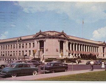 Shelby County Court House Cars Memphis Tennessee 1951 postcard