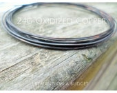 Oxidized Copper Wire 24g Choose from 5-100ft