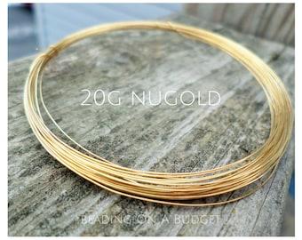 NuGold Brass Wire 20 Gauge Round Dead Soft 5-100 Feet
