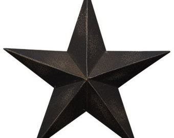 "One 12""  Rustic Black Metal Barn Star  Americana Primitive Crafts Making Wreaths Swags Frame"