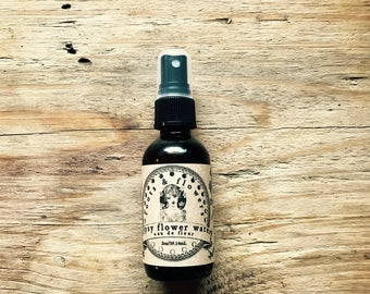 Gypsy Flower Water Revitalizing Skin Tonic Kombucha and Rose water infused with horsetail rosemary calendula toner or aftershave