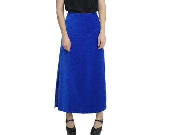 Royal blue skirt | Etsy